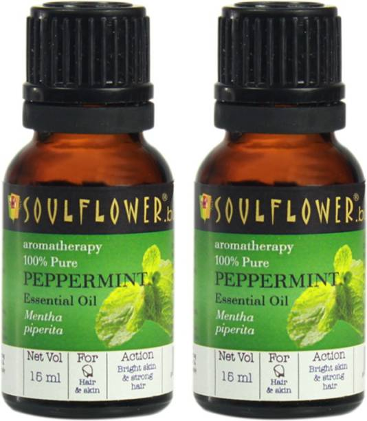 Soulflower Peppermint Essential Oil Set of 2