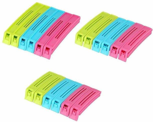 RESKA SEALING POUCH CLIPS Large Plastic Airtight Food Bag Clips