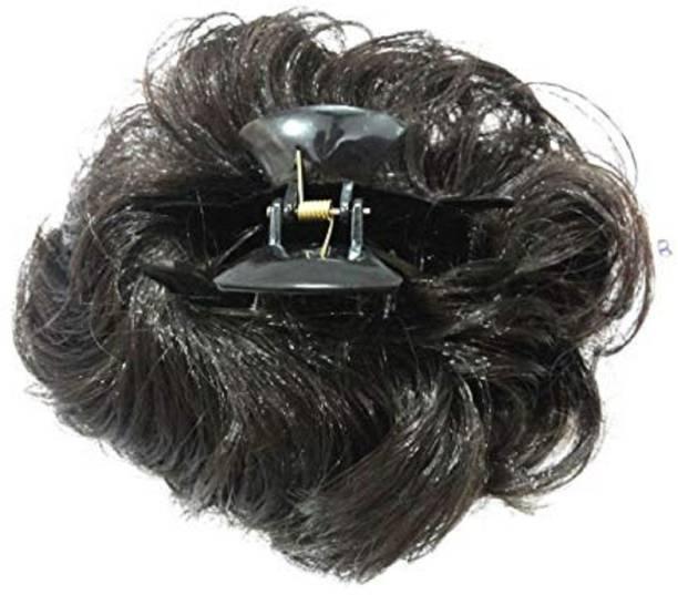 KashQueen Black Hair Clutcher Juda Bun/Hair Extension/ Braid Extension