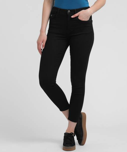04198c4bf56 Flying Machine Skinny Women Black Jeans