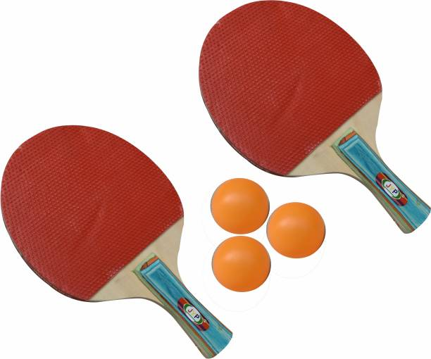 13-HI-13 Tournament Table Tennis Design pattern Racquet In Cover set of 2bats with 3ball Multicolor Table Tennis Racquet