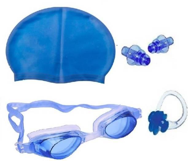 Kamni Sports SWIMMING COMBO SET (CAP ,GOOGLES ,EAR PLUGS) CB-10 Swimming Kit