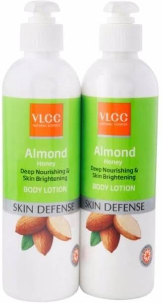 VLCC Almond Honey Deep Nourishing & Skin Brightening Body Lotion (700 ml)pack of 2