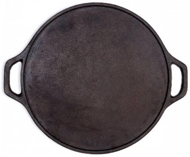 Rock Tawa Dosa Tawa 12 Inch Pre-Seasoned Cast Iron Skillet Tawa 30.5 cm diameter