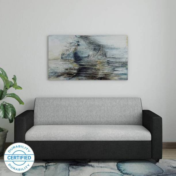 Bharat Lifestyle Tulip 3 Seater Black Grey Color Fabric 3 Seater  Sofa