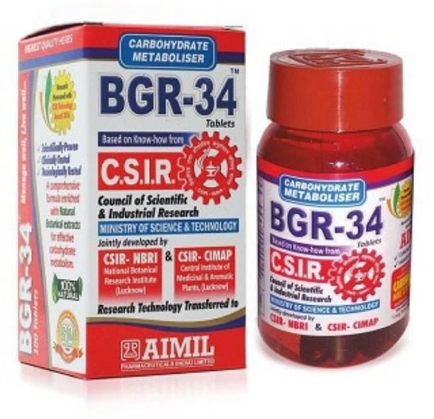 AIMIL BGR 34 Tablet   Ayurvedic Medicine for Diabetes (100 tablets) Capsules