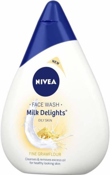NIVEA Milk Delights Fine Gramflour(Oily Skin) Face Wash