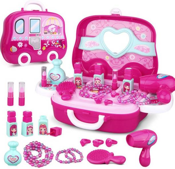 Aarna Bring Along Vanity Princess Makeup and Jewelry Toys for Kids