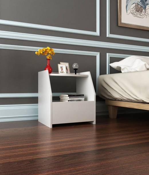 Forzza Bolt With Drawer Engineered Wood Bedside Table