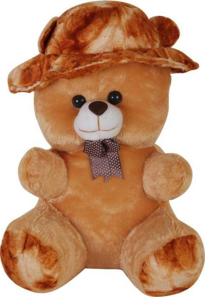 Giftee SOFT BROWN CAP TEDDY BEAR  - 50 cm