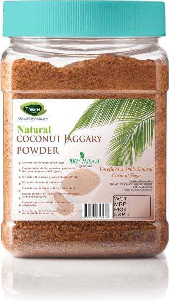 THANJAI NATURAL Coconut Jaggery Powder/ Coconut Sugar 500gram Unrefined 100% Natural No Preservative% Traditional Method Made Sugar