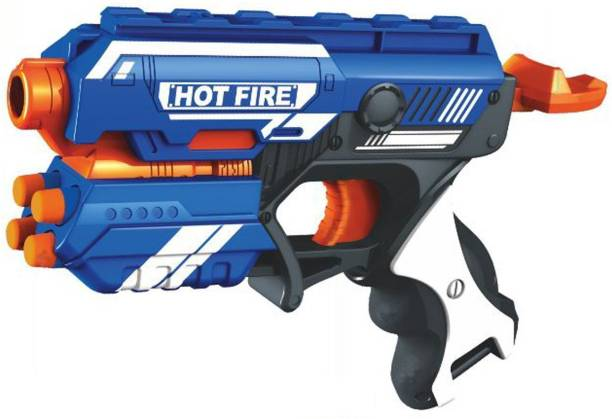 GG BROTHERS Manual Blaze Storm Gun Blaster with 10 Foam Bullets for Kids Guns & Darts Archery Kit