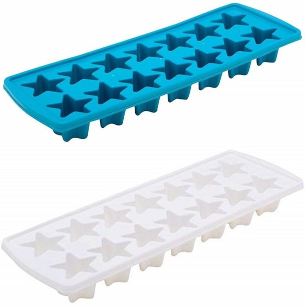Y2 Cube Trays with Flexible Silicone Bottom Easy Push  Out Round NEW