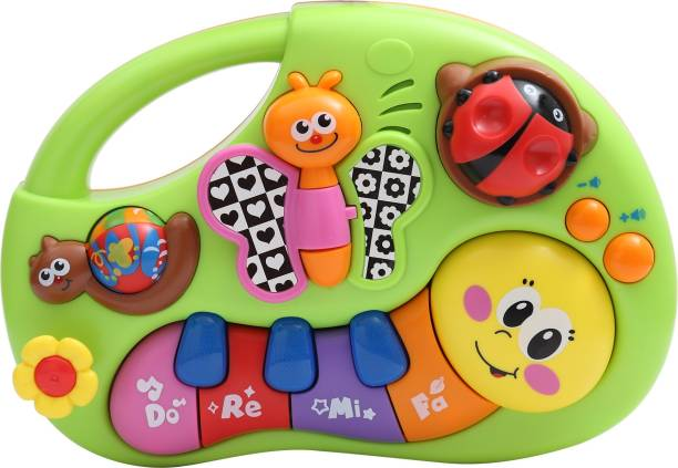 Miss & Chief Finger Illuminating and Learning Piano with Music/Light/Story Toy For Baby