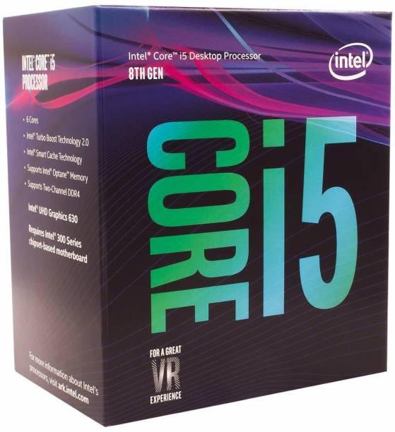 Intel Core i5-8400 8th Generation 2.8 GHz Upto 4 GHz LGA 1151 Socket 6 Cores 6 Threads 9 MB Smart Cache Laptop, Desktop Processor