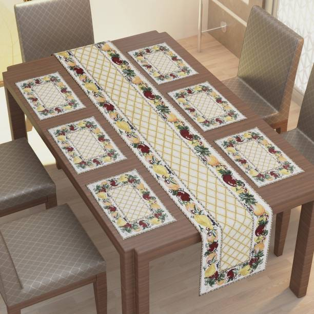 Home Deor Kart Rectangular Pack of 7 Table Placemat