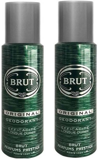 BRUT Original Pack of 2 Deodorant Spray  -  For Men