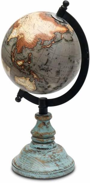CASA DECOR Rustic Base Globe World Globe Home Decor Office Decor Gift Item Desk And Table Top World Globe World Globe