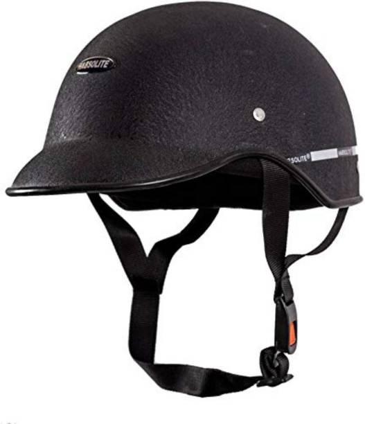 GTB UNISEX Black mini wrinkle HELMET CAP Motorbike Helmet Motorbike Helmet