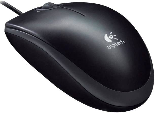 Logitech M100R USB (Black) Wired Optical Mouse
