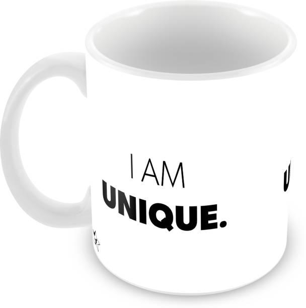 Flipkart SmartBuy I Am Unique Printed For Tea And Coffee Ceramic Coffee Mug