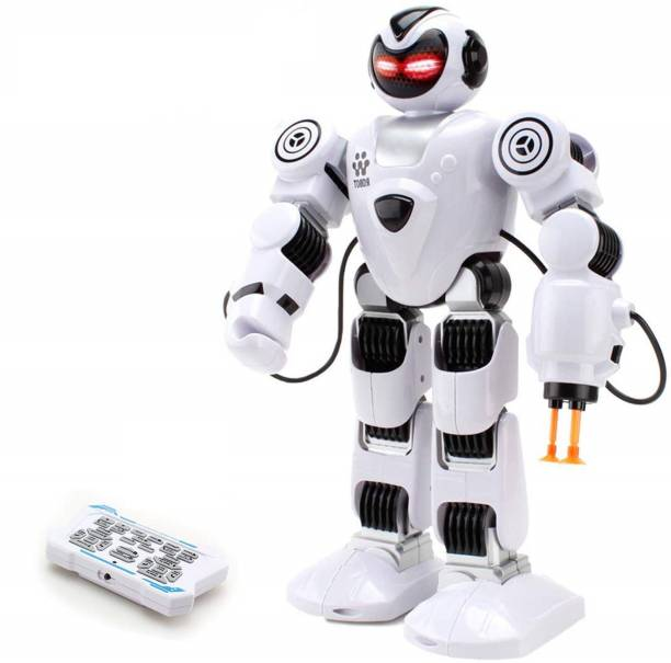 IndusBay Remote Control Robot For Kids - R/C Intelligent Programmable Robot, Interactive, Telling Story, LED Eyes, Smart Robot Kit For Childrens Entertainment