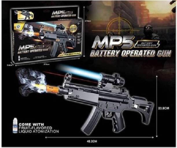 Krivan MP5 Toy Gun for Kids with-Flashing-Light-Sound-Smoke-Effects Gun 1 Pc (Black) Guns & Darts
