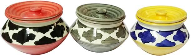sawan shopping mart Ceramic Barni Set Multipurpose Barni 3 Piece Spice Set