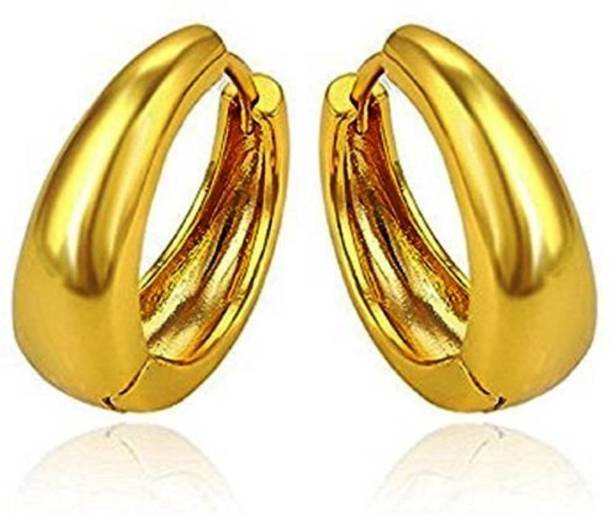 15d2e8922 Divastri Golden Bali Ear rings Stylish Earing Clip on for Mens Boys Girls  Stainless Steel Stud