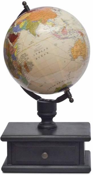 CASA DECOR Modern Drawer Globe World Globe with Storage Home Decor Office Decor Gift Item desk & table top World globe World Globe