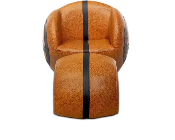 Bubblegum jordan-brown Leatherette Ottoman