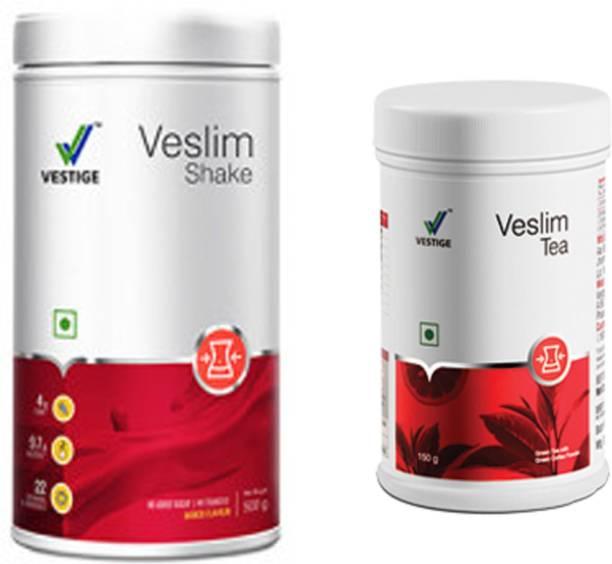 Vestige Veslim shake, 500g and VESLIM TEA