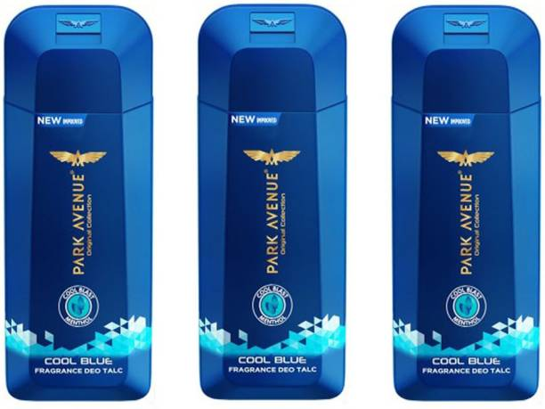 PARK AVENUE COOL BLUE Deo TALC 100g × 3 Pack Of Three