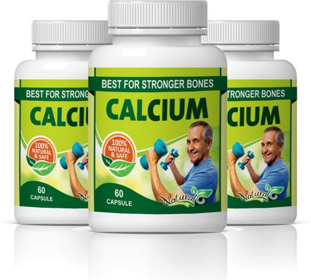 Natural Calcium Best Stronger For Bones Capsules Pack of 3