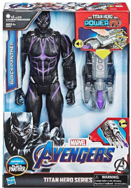 4e921139a0 Marvel Avengers Endgame Titan Hero Series Black Panther 12-Inch-Scale Super  Hero Action