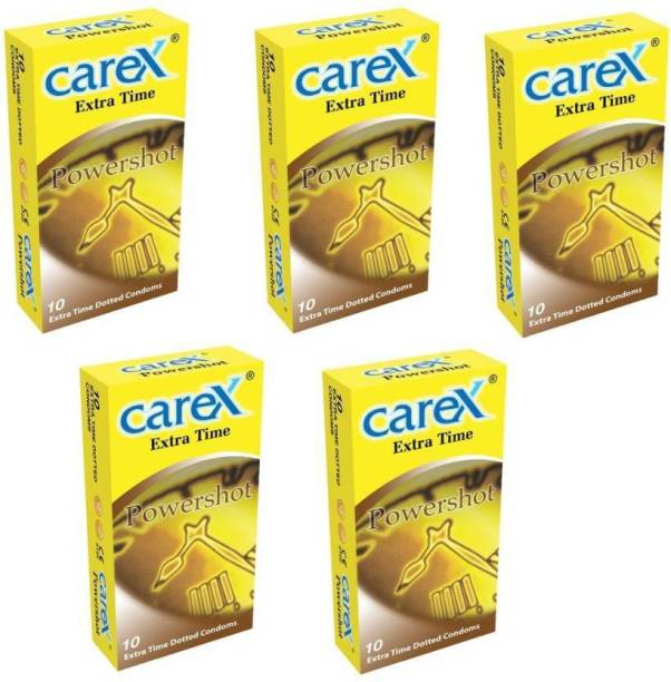 CAREX Extra Time Power Shot Premium Malaysian ( 10 X 5 =50 ) Condom