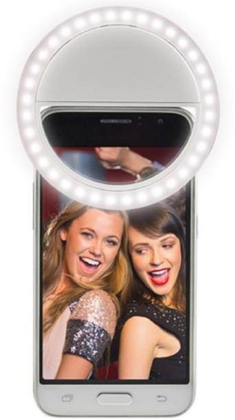 LANIX LED Rechargable Selfie Ring Light for Musically TIKTOK & Smule on Mobile, Tablet, Laptop Ring Flash