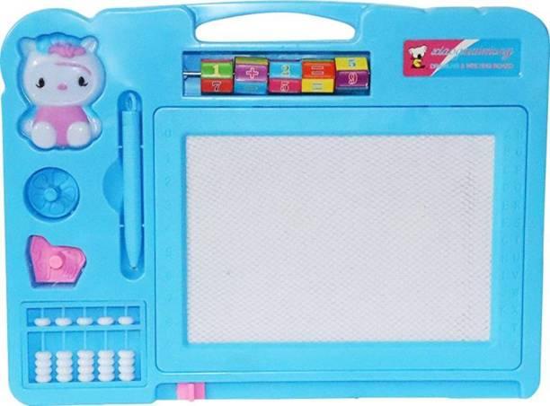 A R ENTERPRISES Educational Writing and Drawing Magic Slate + Black Slate Chalk Board, Double Sided Slate for Kids