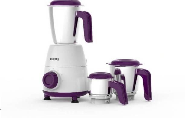 PHILIPS HL7505/00 500 Mixer Grinder (3 Jars, Purple, White)