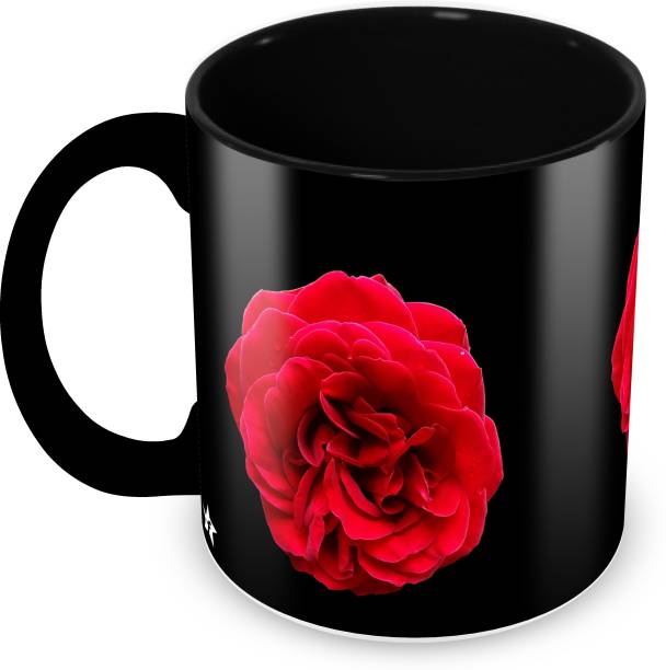 Flipkart SmartBuy Rose Printed For Tea And Coffee Ceramic Coffee Mug
