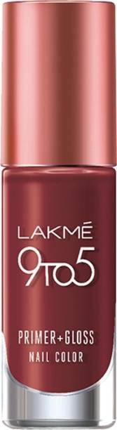 Lakmé 9 to 5 Primer + Gloss Nail Color Red Alert