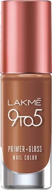 Lakmé 9 to 5 Primer + Gloss Nail Color Caramel Case