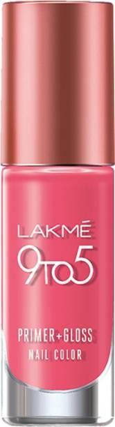 Lakmé 9 to 5 Primer + Gloss Nail Color Rose Crush