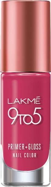Lakmé 9 to 5 Primer + Gloss Nail Color Magenta Mix