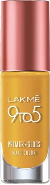 Lakmé 9 to 5 Primer + Gloss Nail Color Mustard Master