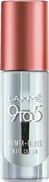 Lakmé 9 to 5 Primer + Gloss Nail Color Top Coat