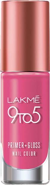 Lakmé 9 to 5 Primer + Gloss Nail Color Pink Pace