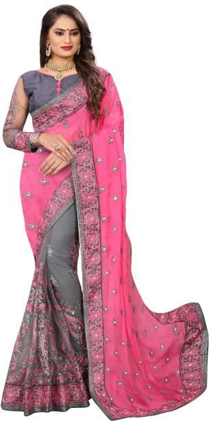 f9b9da2720d5a2 Net Sarees With Stone Work - Buy Net Sarees With Stone Work online ...
