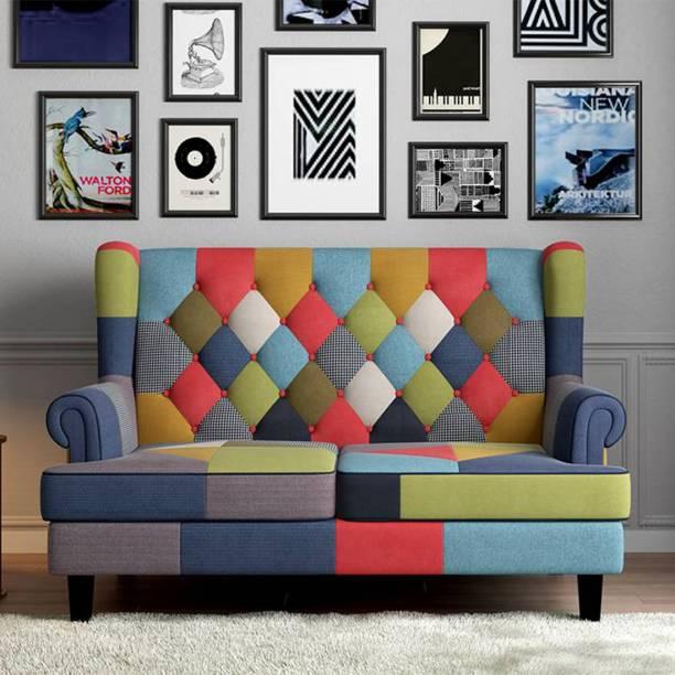 Urban Ladder Minnelli Loveseat Fabric 2 Seater  Sofa