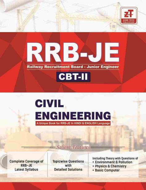 RRB-JE (Junior Engineer) CBT-2: CIVIL ENGINEERING Topic wise MCQs Practice Book As per RRB syllabus (In English & Hindi)